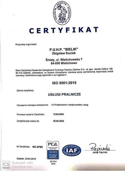 Certyfikat 1-B87